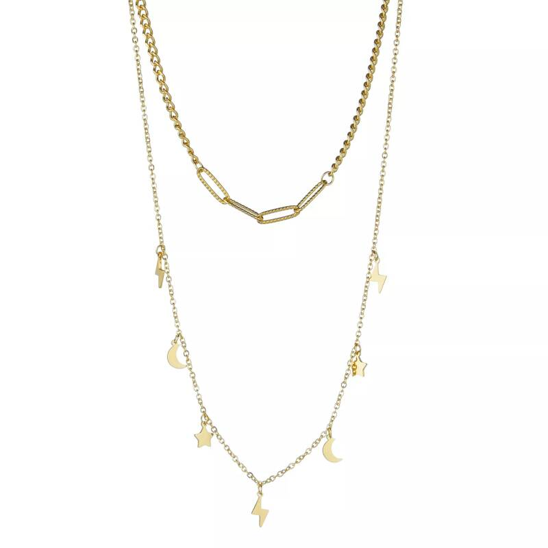 Double necklace floating | goud