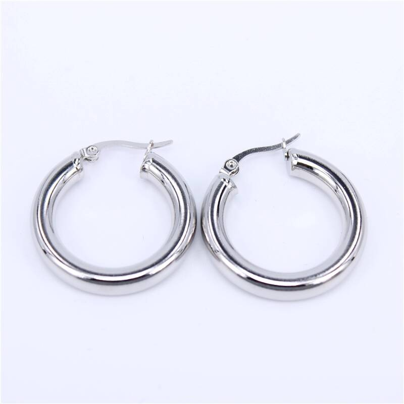 Hoop earrings | plain zilver