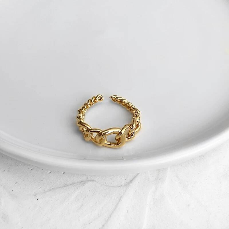 Chain ring small big   goud