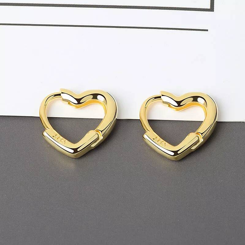 Earrings heart | goud
