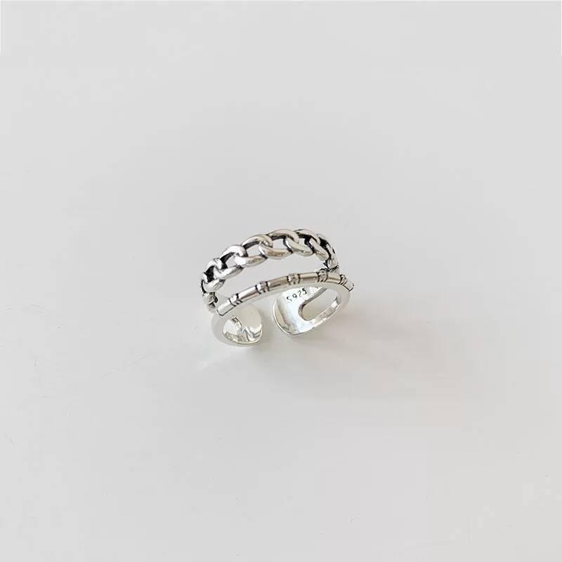 Ring double   925 zilver