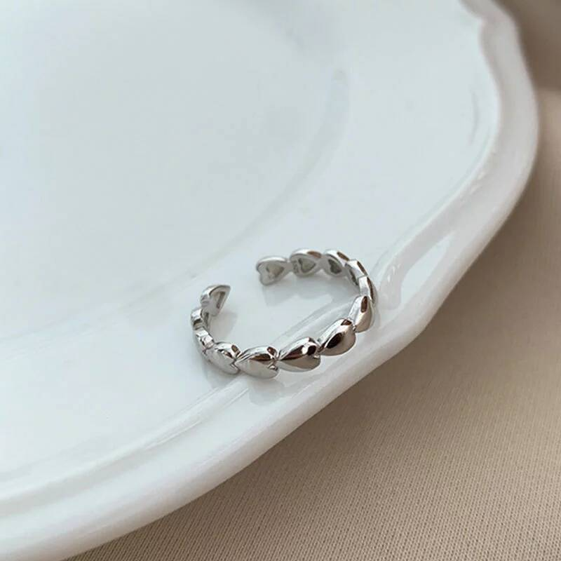 Ring hearts | zilver