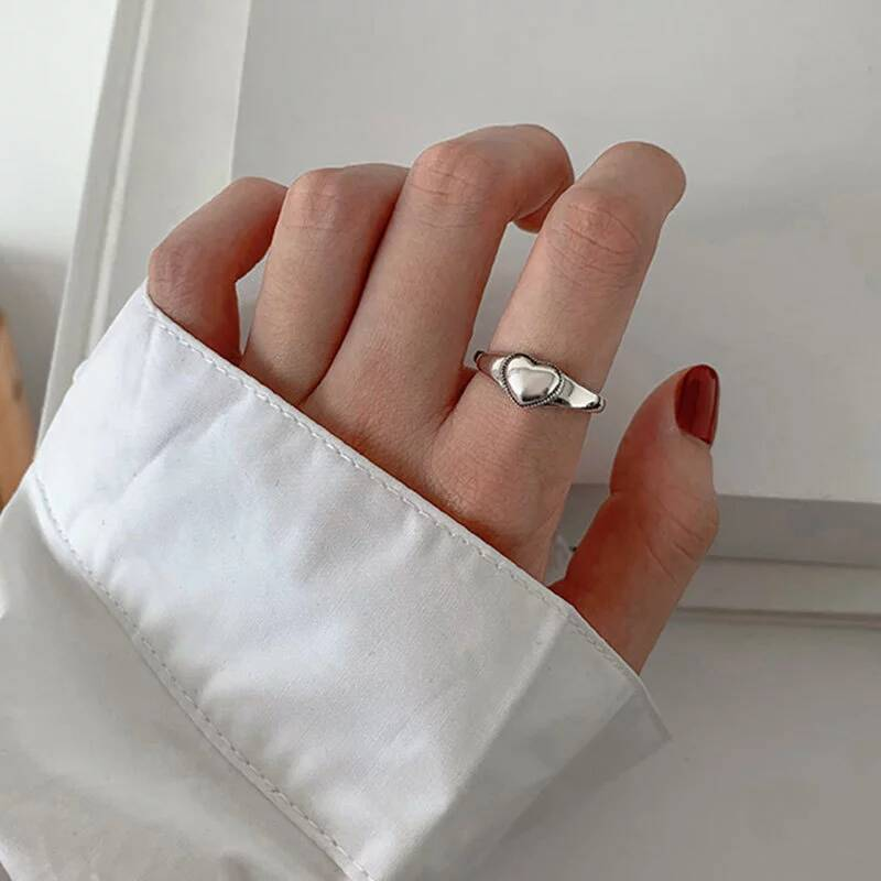 Ring small heart | 925 zilver