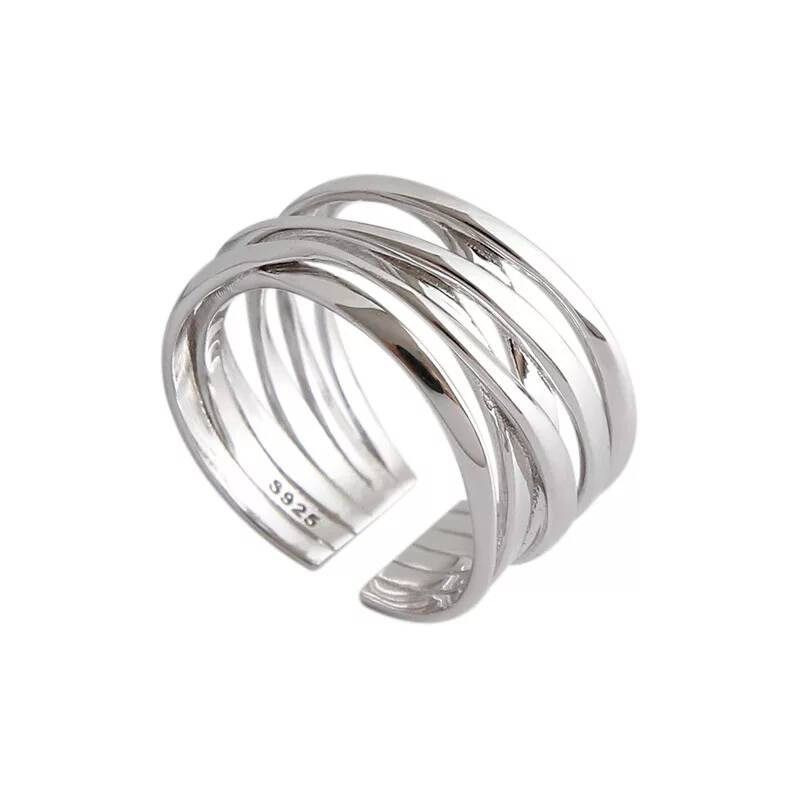 Ring multiple lines   zilver