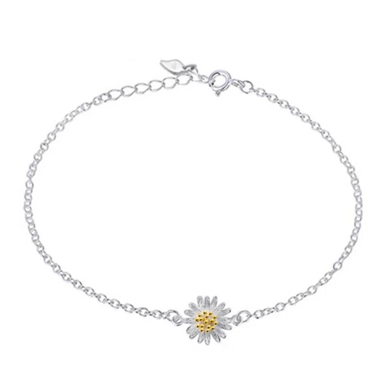 Armband sunflower | 925 zilver