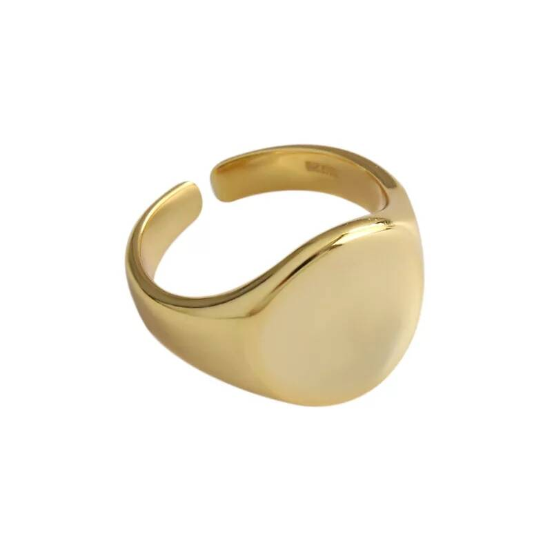 Ring round plain | goud