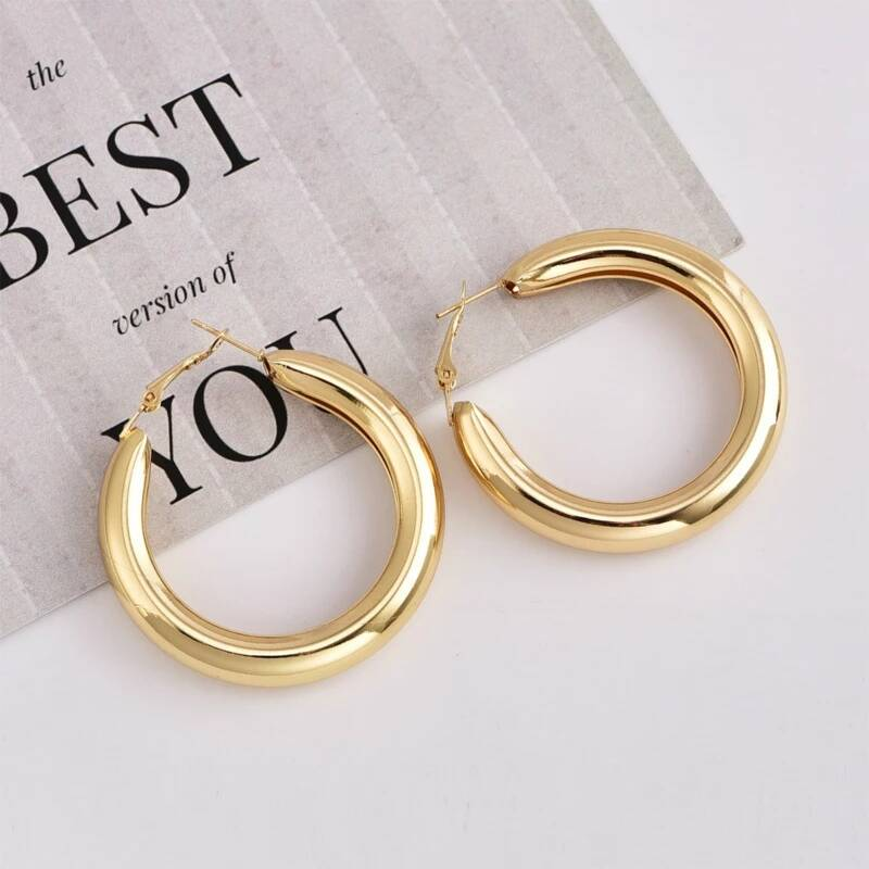 Basic big hoops | goud