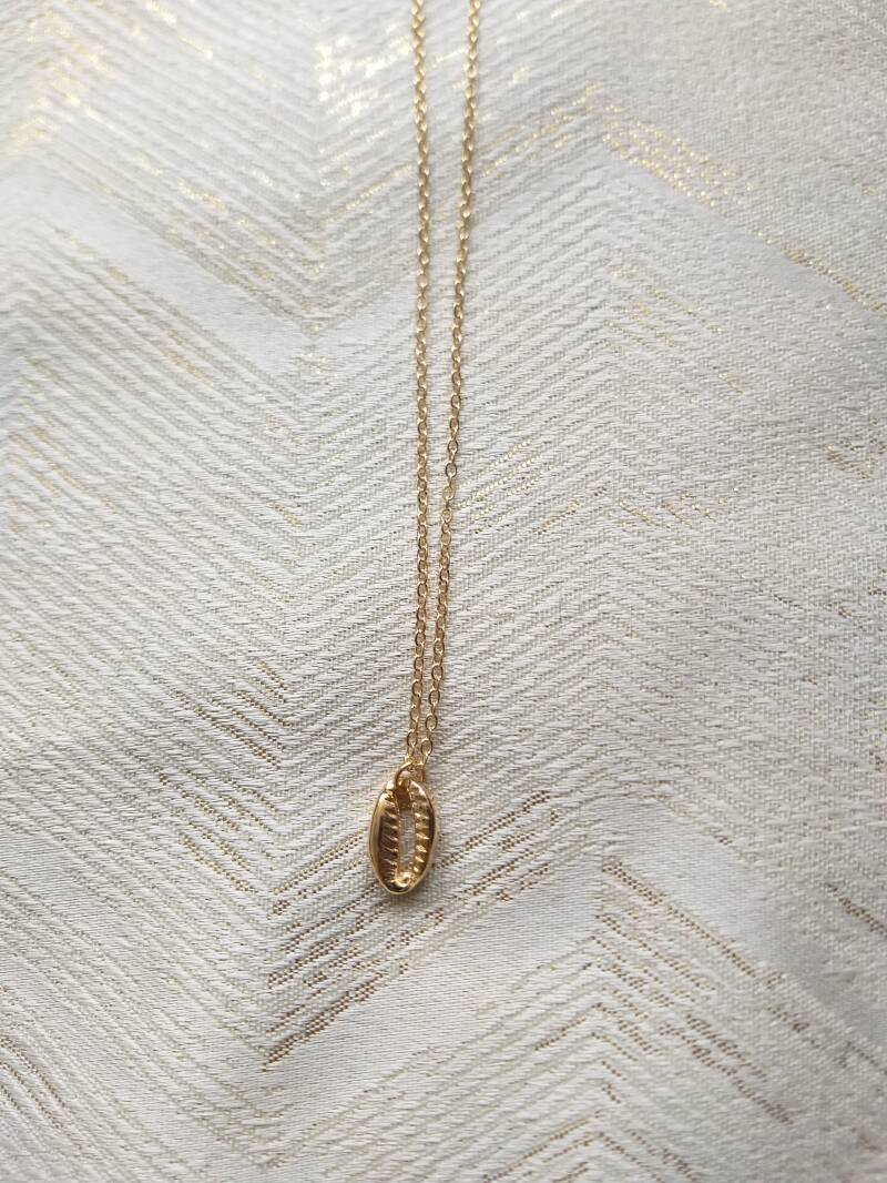 Shell necklace | goud