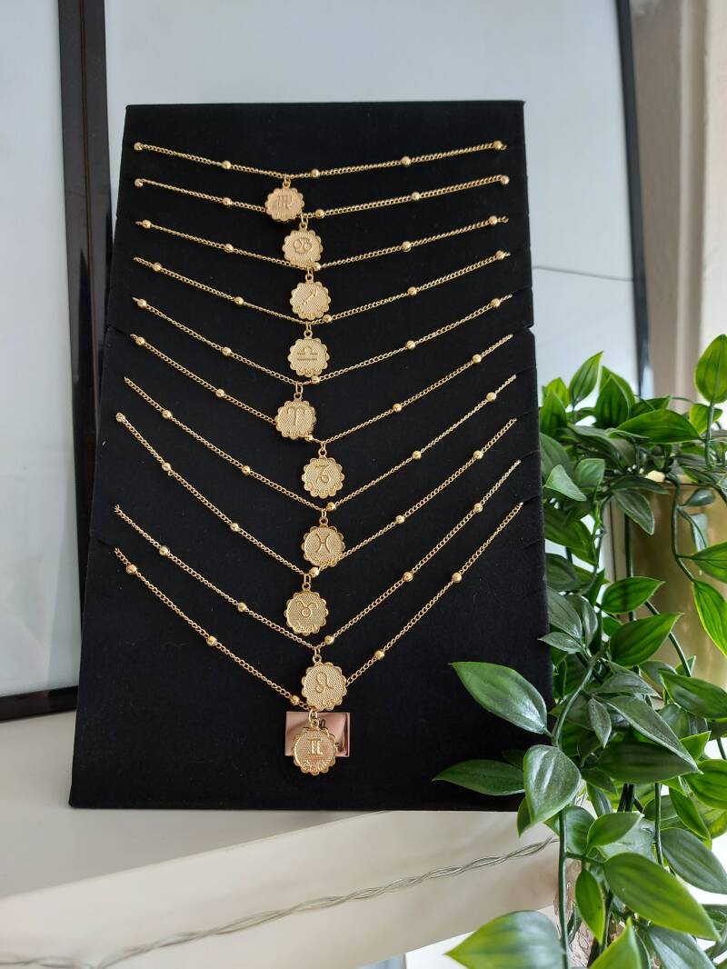 Sterrenbeeld necklace munt | goud