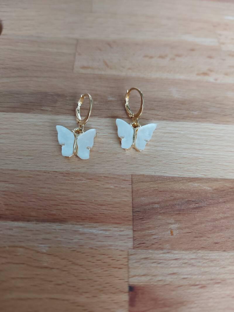 Butterfly | gold white