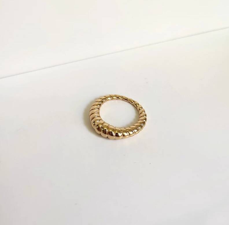 Ring ribbels | goud
