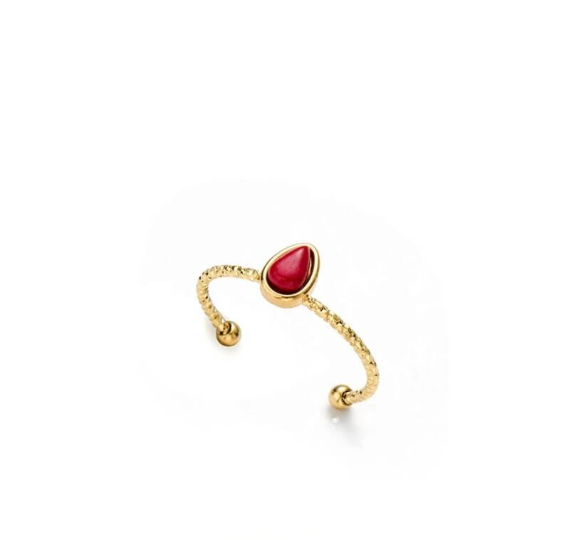 Gouden ring | rood