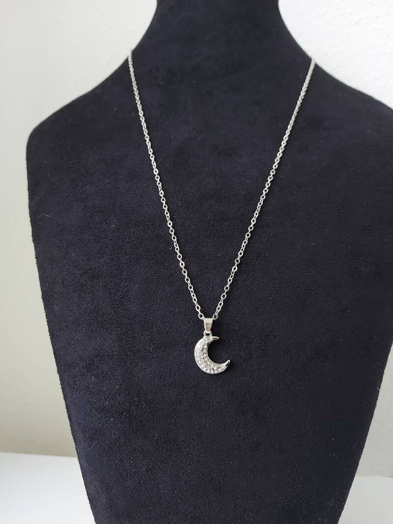 Over the moon necklace | zilver