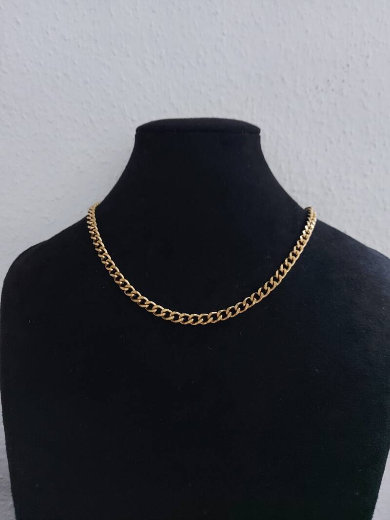 Chain necklace connected | goud