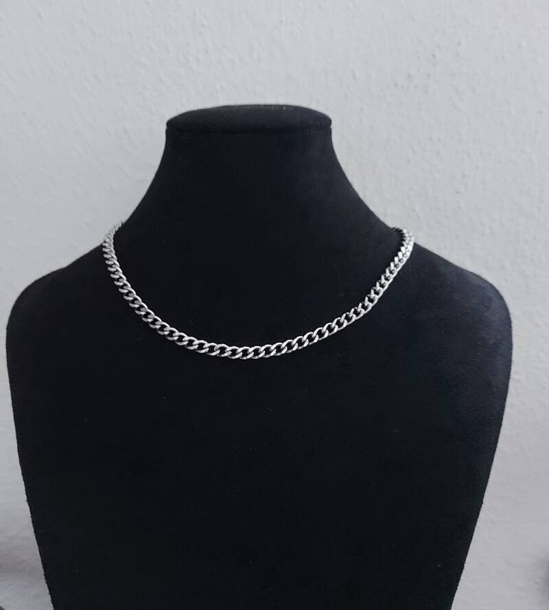 Chain necklace connected | zilver