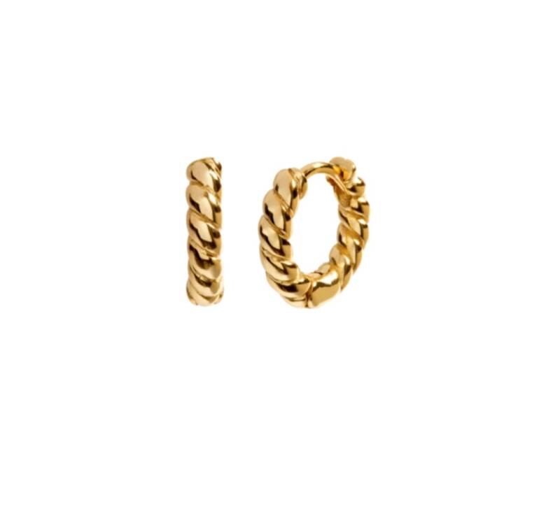 Earrings twisted | goud