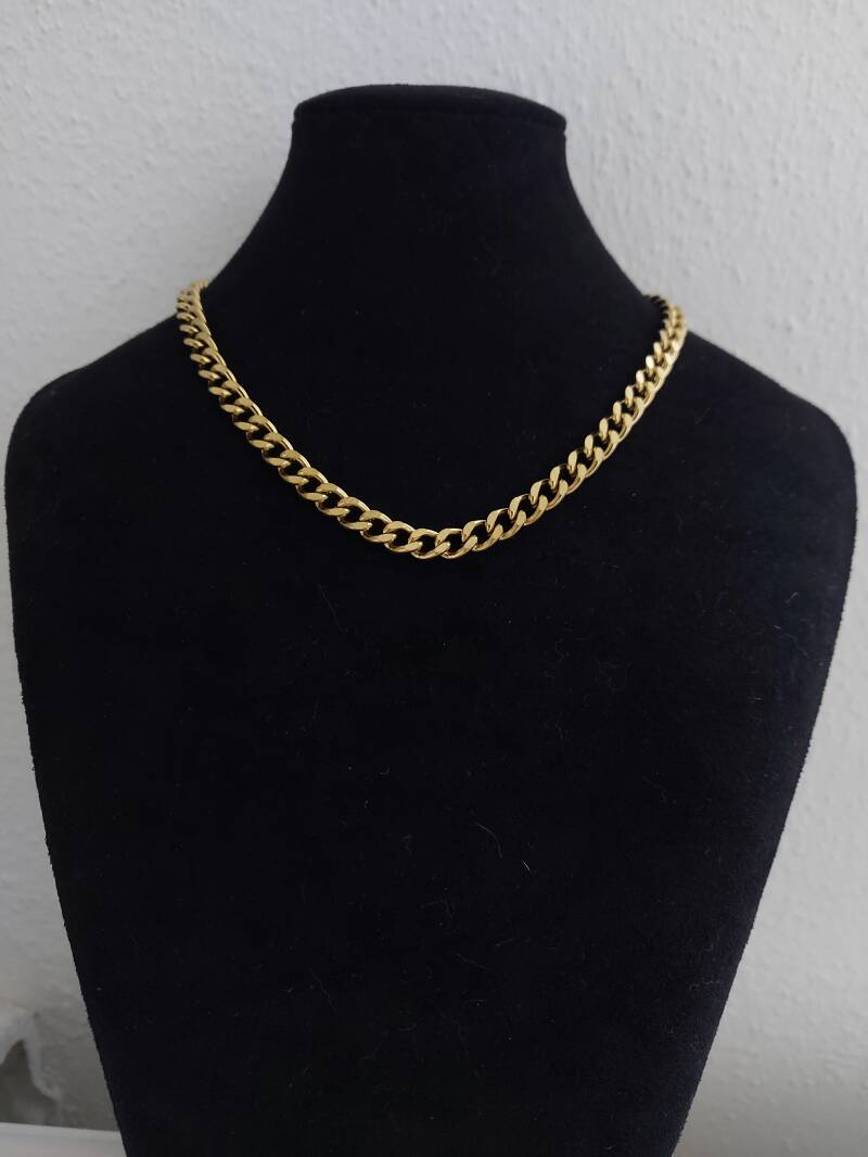 Chain necklace connected big | goud