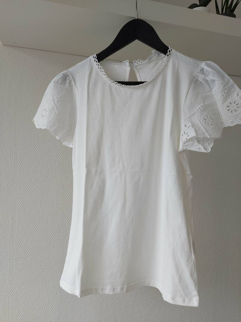 Beau broderie top | wit