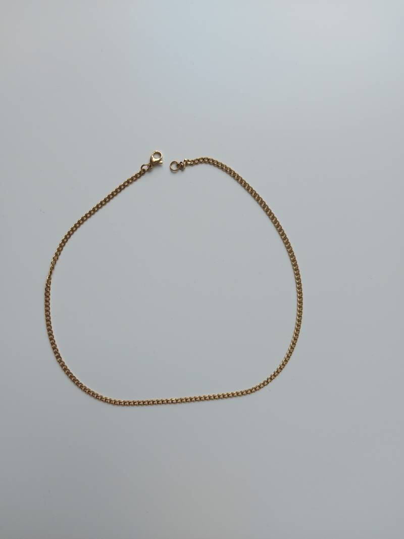 Necklace connected small | goud