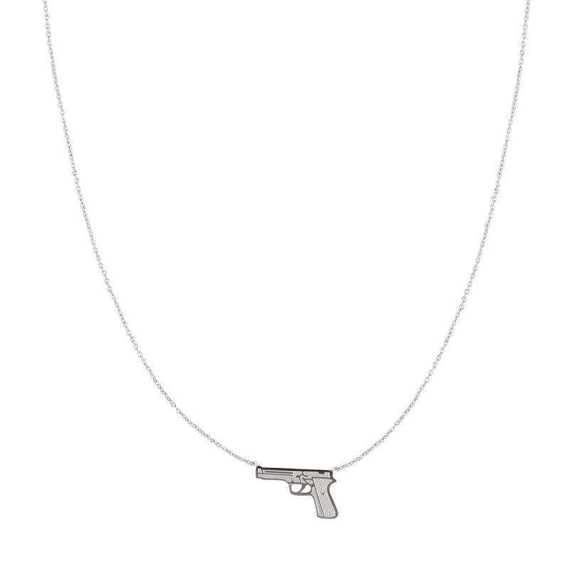 Gun necklace | zilver