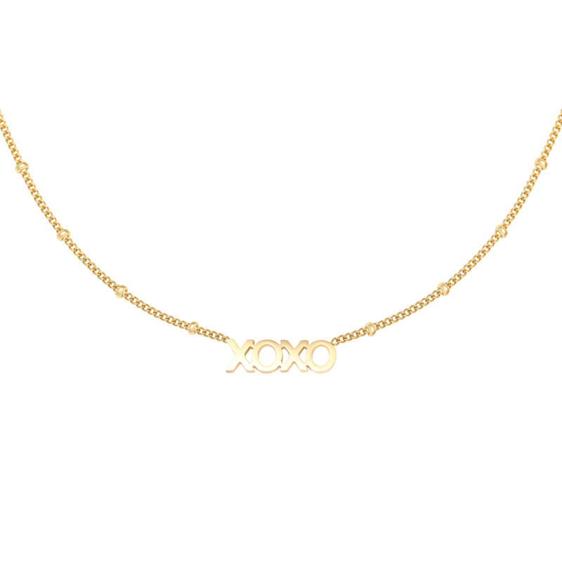 XOXO necklace | goud
