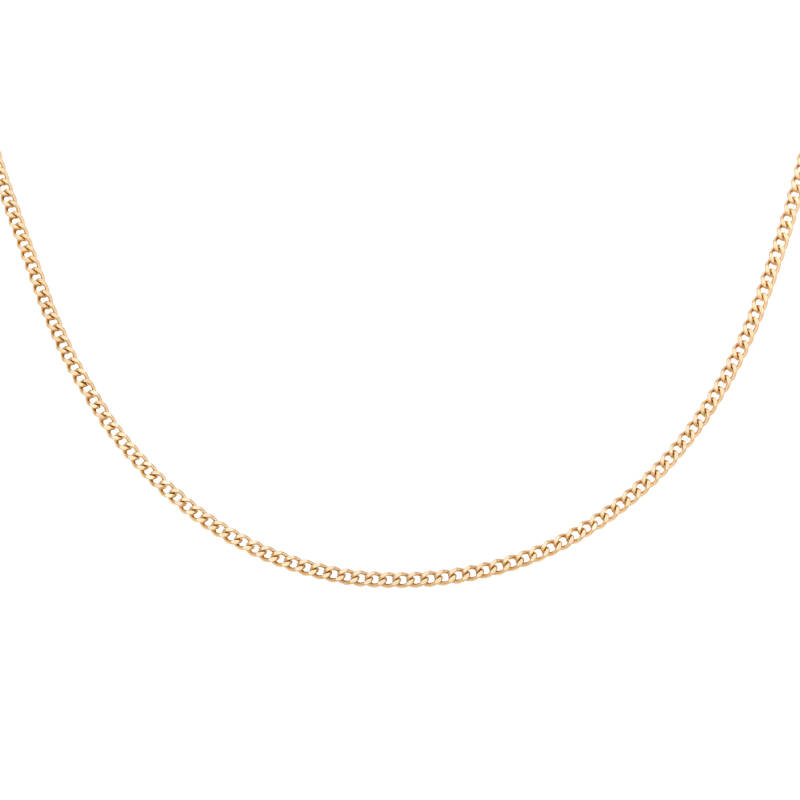 Necklace connected small   goud