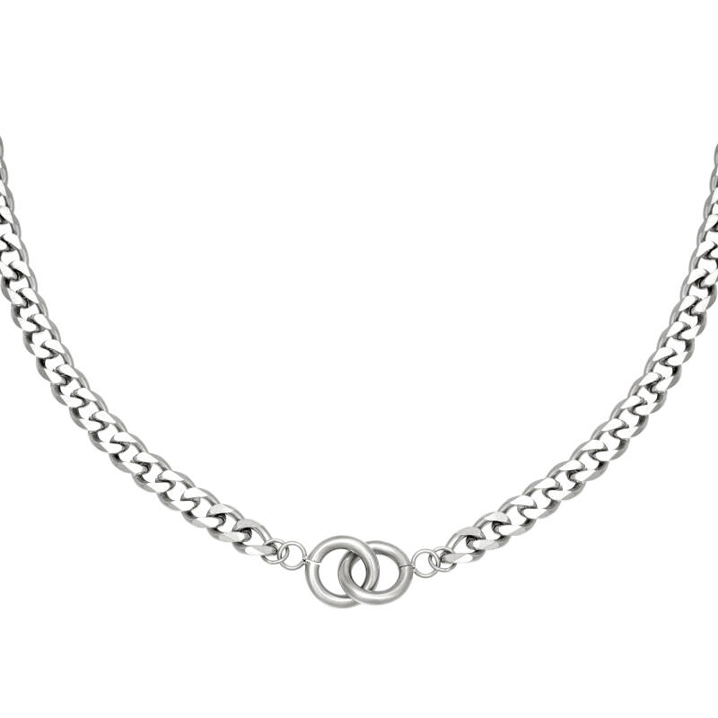 Chain necklace intertwined | zilver