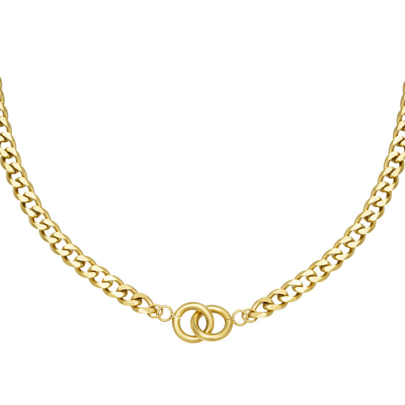 Chain necklace intertwined | goud