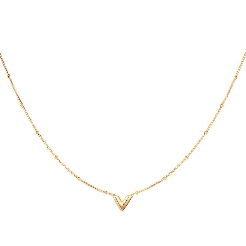 Necklace V small | goud