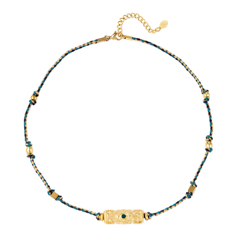 Necklace beads bedel | blue
