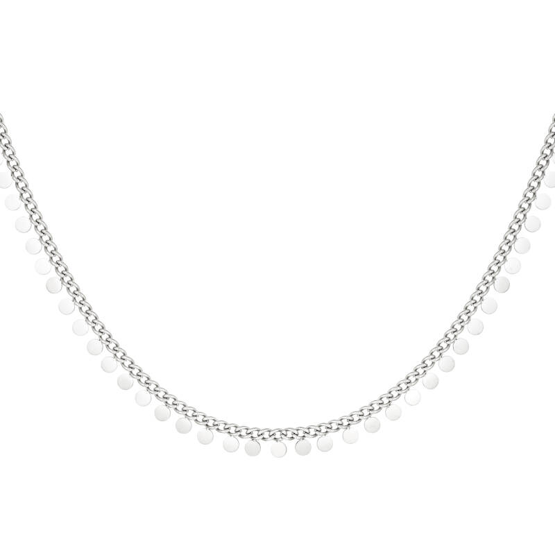 Necklace full coins | zilver
