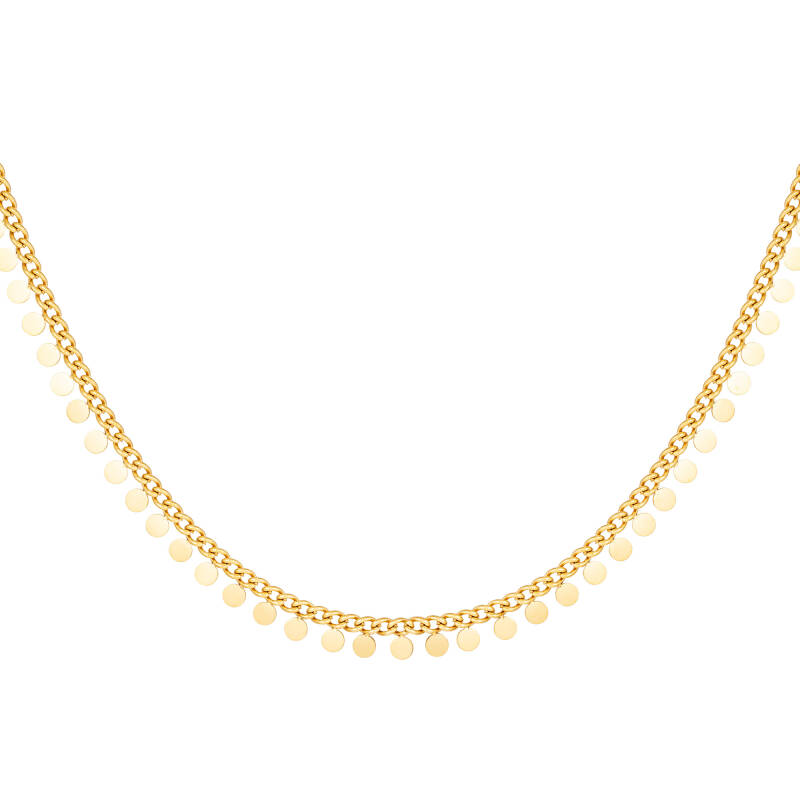 Necklace full coins | goud