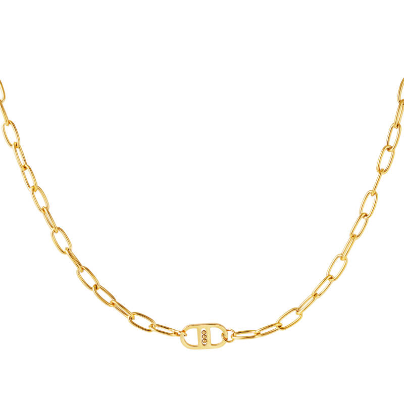 Chain necklace DD simple   goud