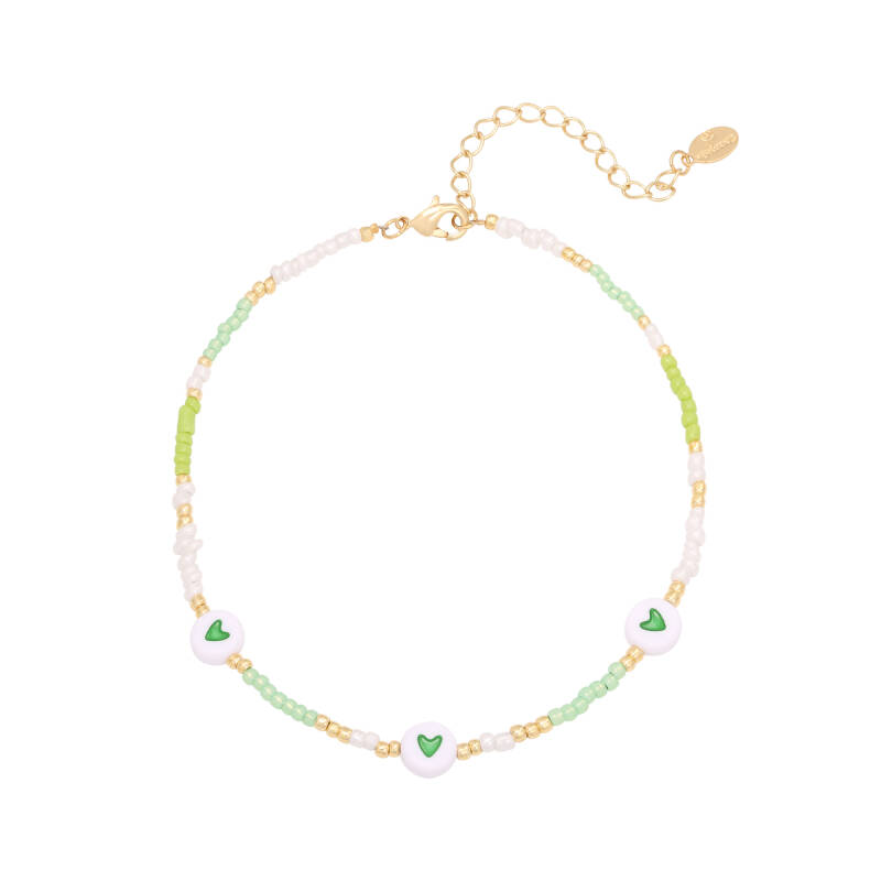 Anklet beads | green
