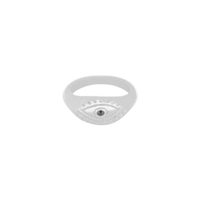 Curious eye ring | zilver