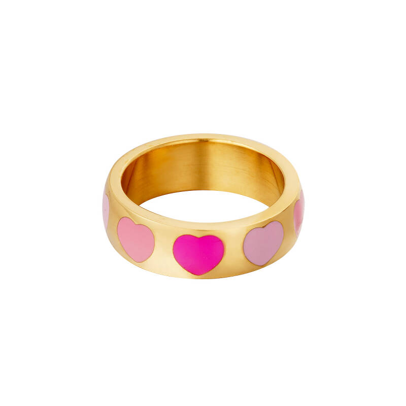 Ring hearts | goud roze