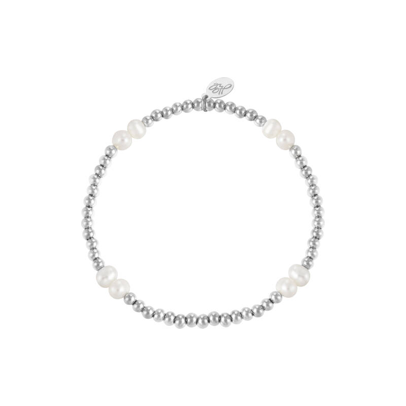 Armband pearl mix | zilver