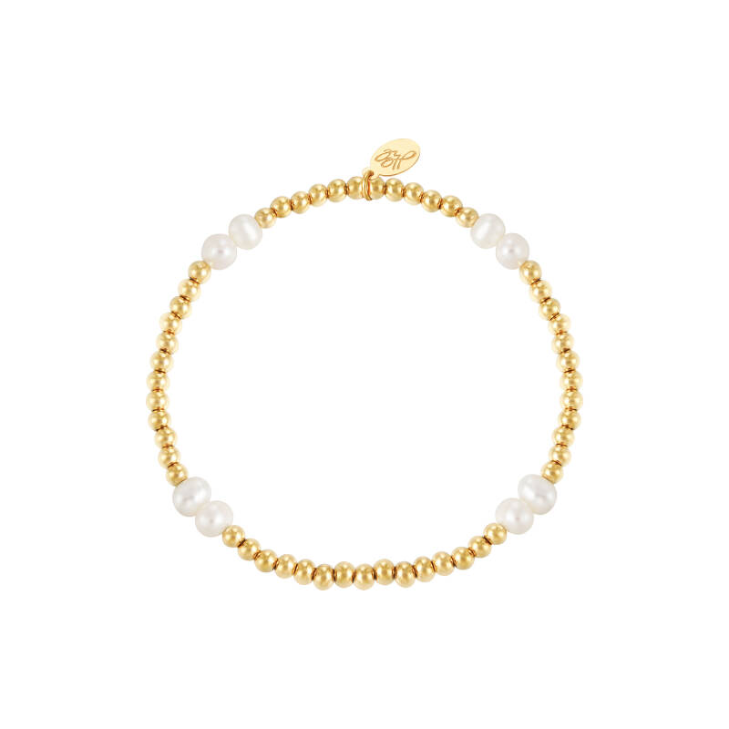 Armband pearl mix | goud