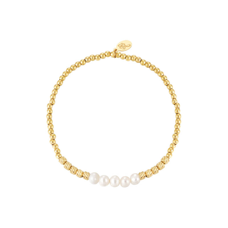 Armband pearl beads | goud