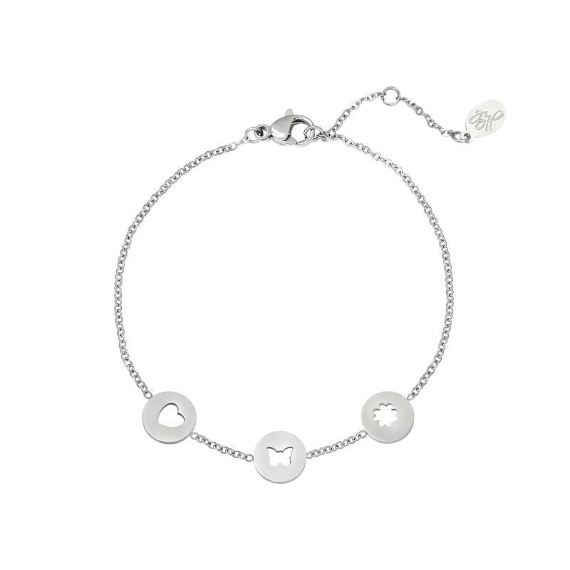 Armband three coins | zilver