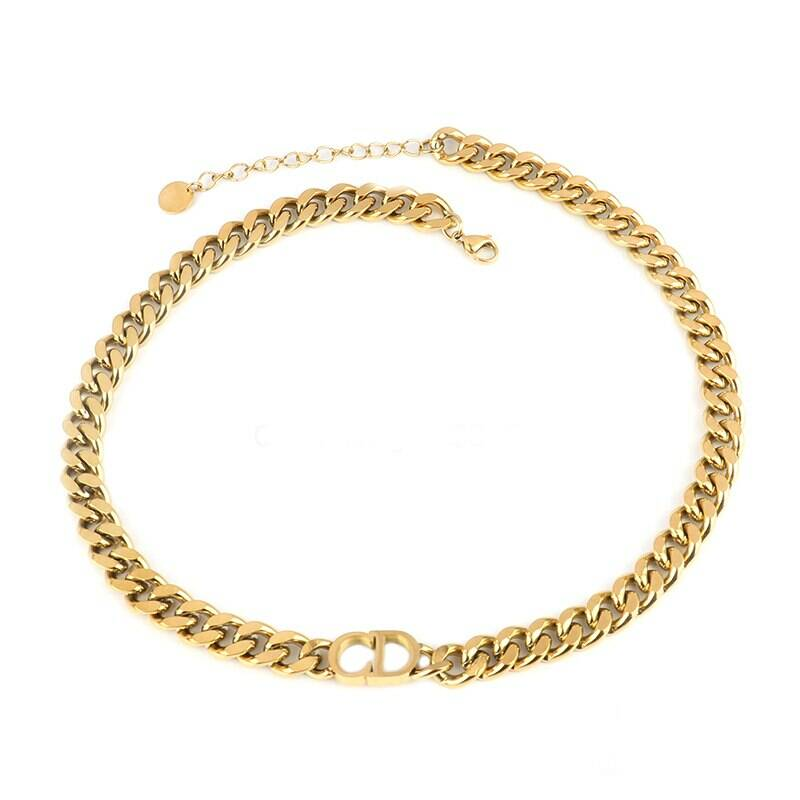 CD chain necklace | goud