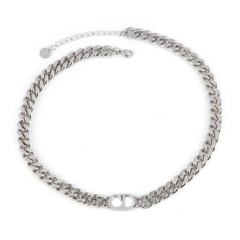 CD chain necklace | zilver