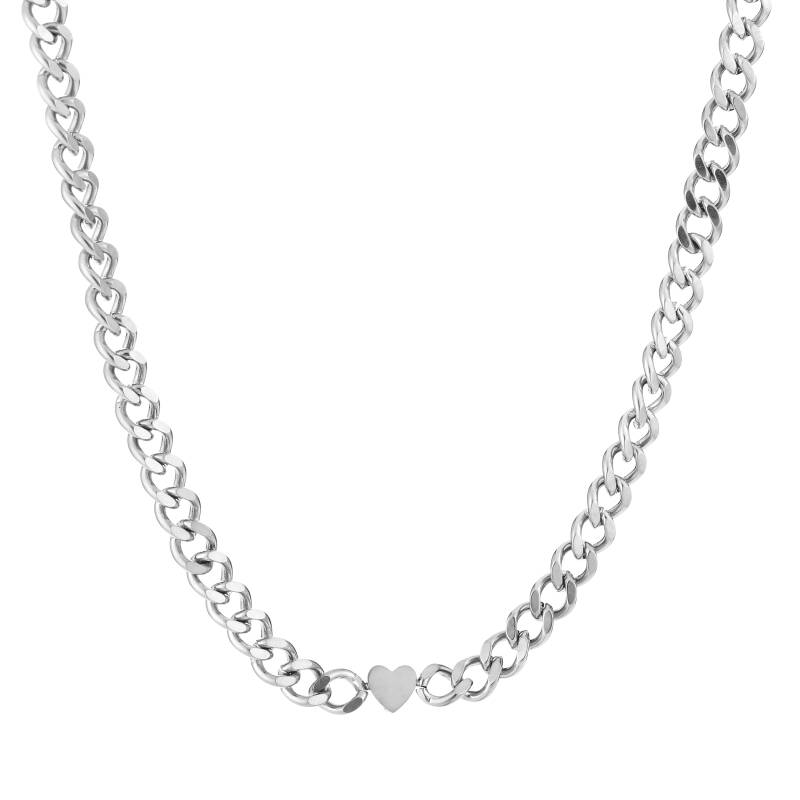 Ketting chain hart | zilver