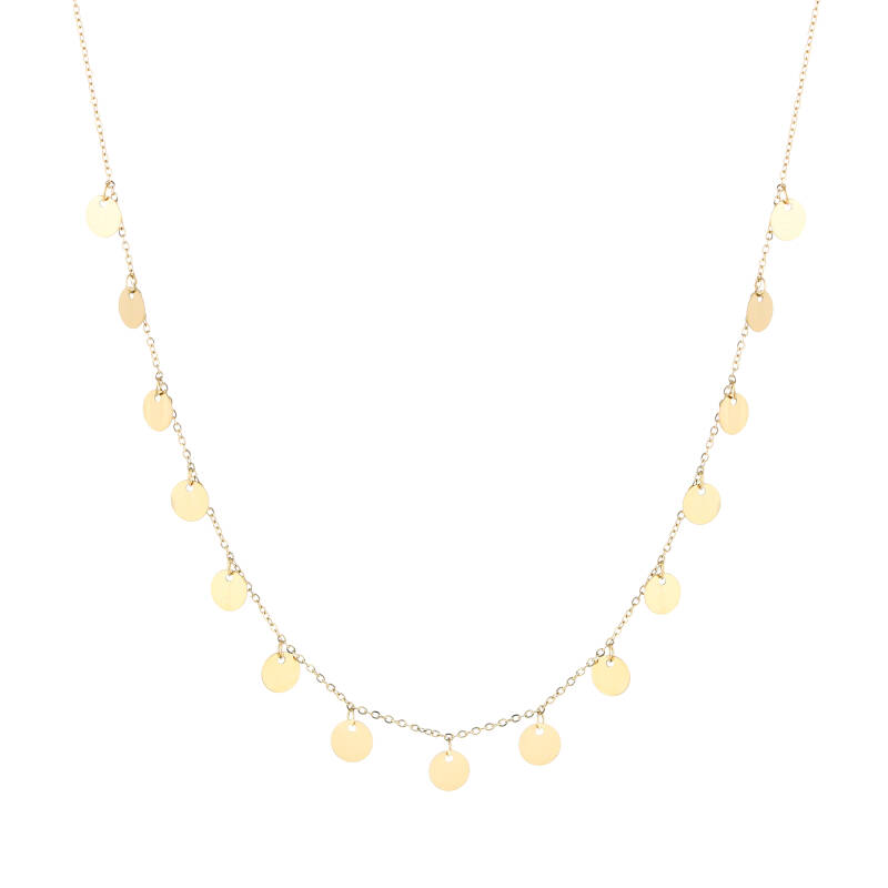 Floating coins necklace   goud