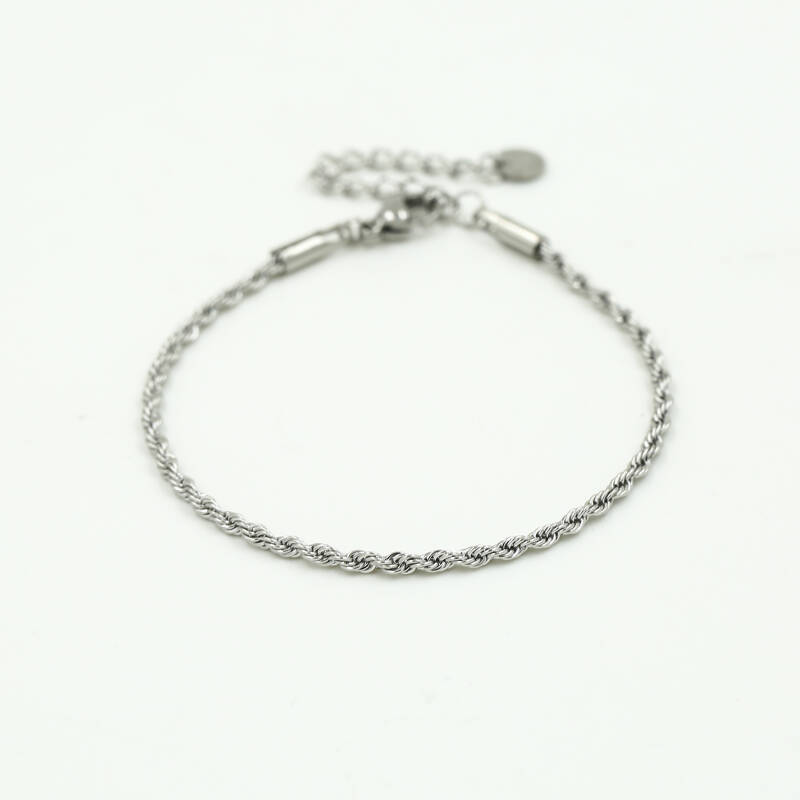 Armband small twisted | zilver