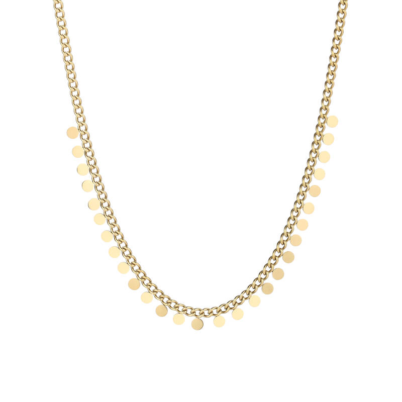 Necklace small coins   goud