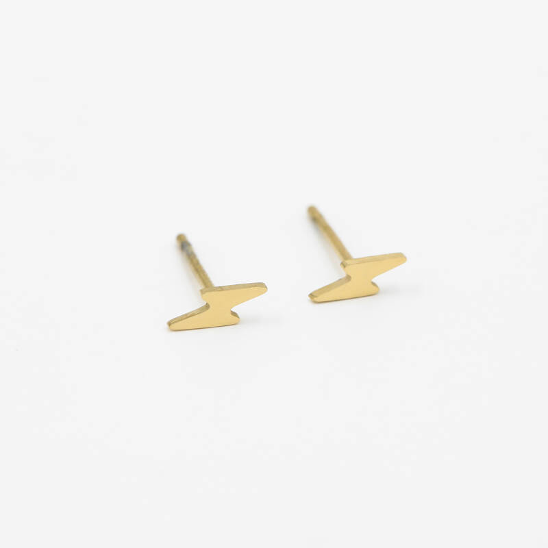 Stud earrings lightning | goud