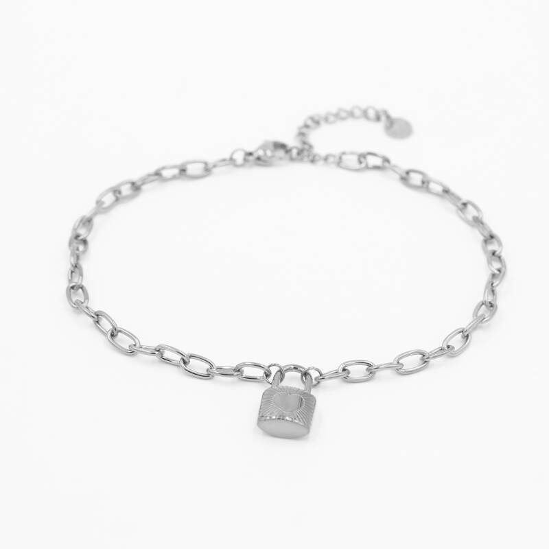 Anklet chain lock | zilver