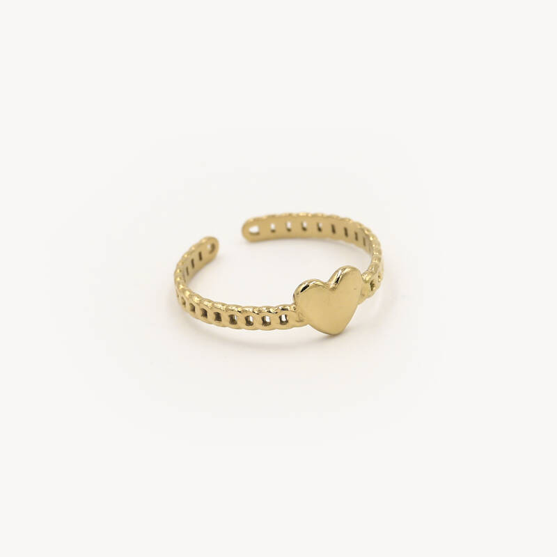Chain ring small heart | goud