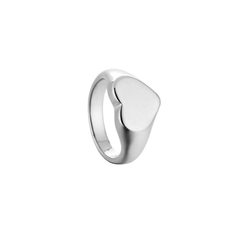 Ring chunk heart | zilver